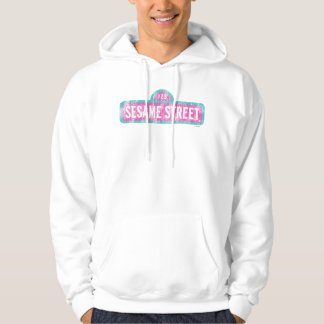 Sesame Street Pink Sign Logo Hoodie