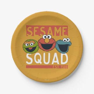 Sesame Street - Sesame Squad Paper Plate