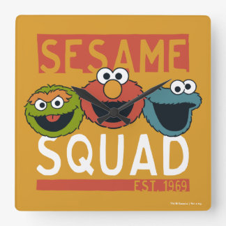 Sesame Street - Sesame Squad Square Wall Clock