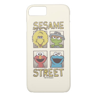 Sesame StreetVintage Character Comic iPhone 7 Case