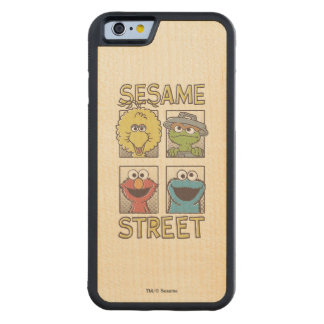 Sesame StreetVintage Character Comic Maple iPhone 6 Bumper Case