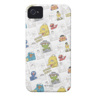 Sesame StreetVintage Comic Pattern iPhone 4 Case