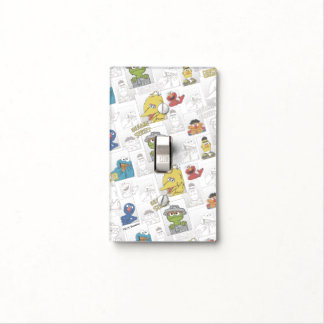 Sesame StreetVintage Comic Pattern Light Switch Cover