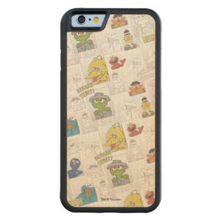 Sesame StreetVintage Comic Pattern Maple iPhone 6 Bumper Case