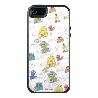 Sesame StreetVintage Comic Pattern OtterBox iPhone 5/5s/SE Case