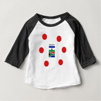 Sesotho Language And Lesotho/South Africa Flags Baby T-Shirt
