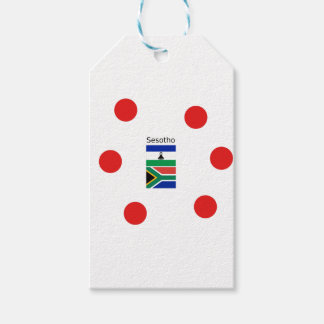 Sesotho Language And Lesotho/South Africa Flags Gift Tags