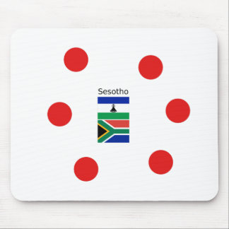 Sesotho Language And Lesotho/South Africa Flags Mouse Pad