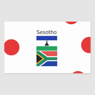Sesotho Language And Lesotho/South Africa Flags Sticker