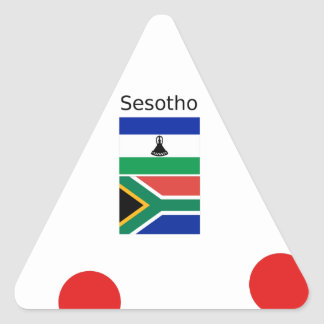 Sesotho Language And Lesotho/South Africa Flags Triangle Sticker