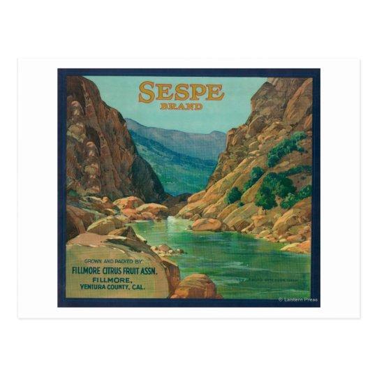 Sespe Orange LabelFillmore, CA Postcard