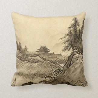 Sesshu Toyo Winter Landscape Throw Pillow