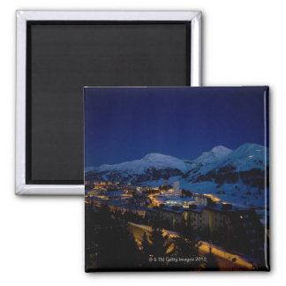 Sestriere - home of 2006 Winter Olympic ski Square Magnet