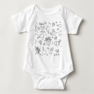 Set chalk out scribble collection baby bodysuit