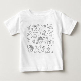 Set chalk out scribble collection baby T-Shirt