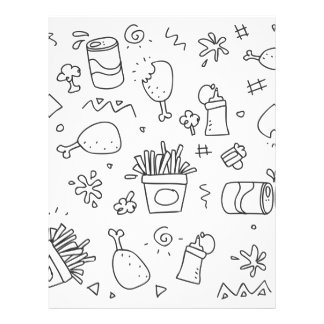 Set chalk out scribble collection letterhead