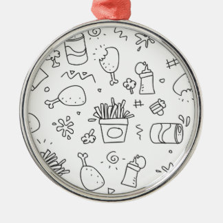 Set chalk out scribble collection metal ornament