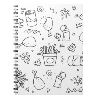 Set chalk out scribble collection notebook