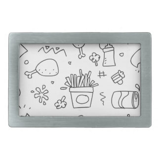Set chalk out scribble collection rectangular belt buckles