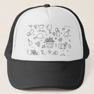 Set chalk out scribble collection trucker hat