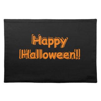 Set de table heureux noir de partie de Halloween