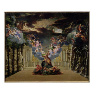 Set design for 'Atys' by Jean-Baptiste Lully Poster