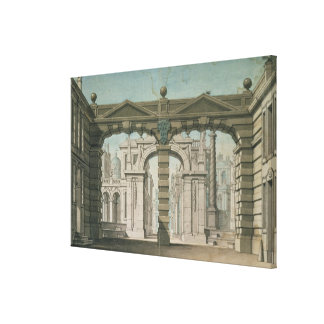 Set design for the world premiere stretched canvas print