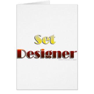 Set Designer (Text Only) Card