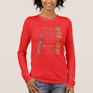 """""""Set Free in Christ"""" Long Sleeve Tee (Red/Gold)"""