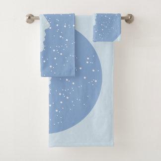 Set Nefertiti towels stars blue