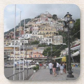 Set of 6 Drinks Coasters: Positano Picture (Italy) Coaster