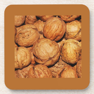 SET OF 6 THANKSGIVING WALNUT COASTERS