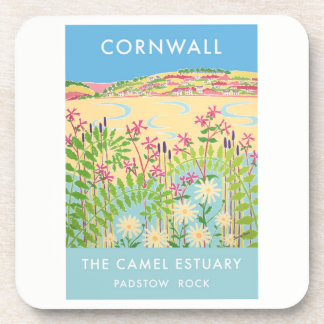 Set of 6:Vintage Style Coasters,Camel Estuary Rock Drink Coasters