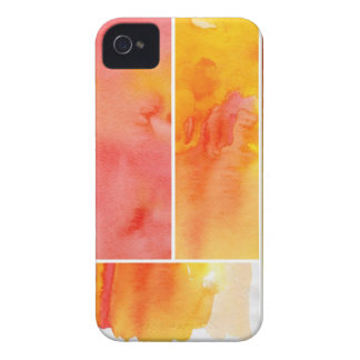 Set of abstract  watercolor hand painted Case-Mate iPhone 4 cases