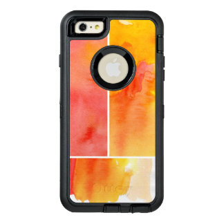 Set of abstract  watercolor hand painted OtterBox iPhone 6/6s plus case