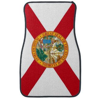 Set of car mats with Flag of Florida, USA