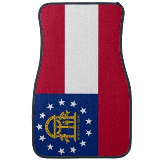 Set of car mats with Flag of Georgia, USA