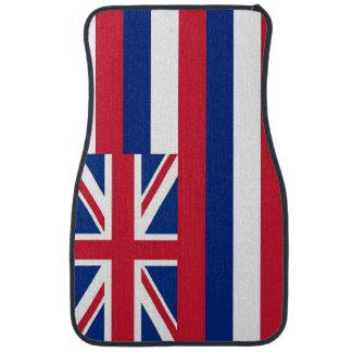 Set of car mats with Flag of Hawaii, USA