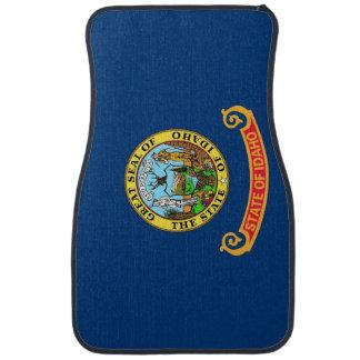 Set of car mats with Flag of Idaho, USA