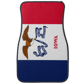 Set of car mats with Flag of Iowa, USA