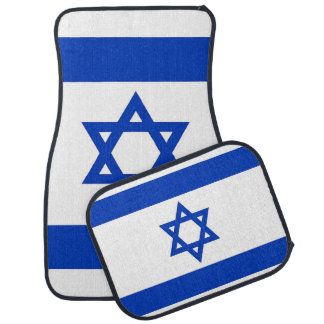 Set of car mats with Flag of Israel