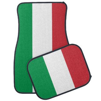 Set of car mats with Flag of Italy