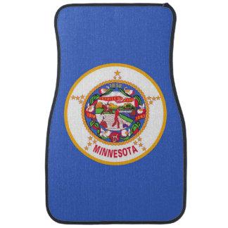 Set of car mats with Flag of Minnesota, USA
