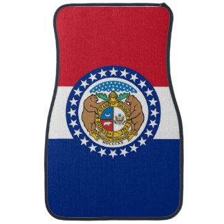 Set of car mats with Flag of Missouri, USA
