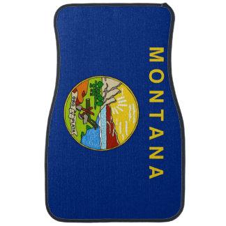 Set of car mats with Flag of Montana, USA