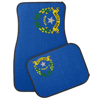Set of car mats with Flag of Nevada, USA