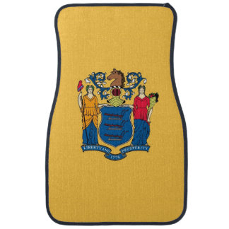 Set of car mats with Flag of New Jersey, USA