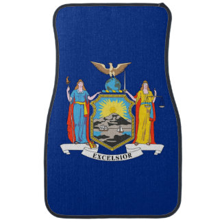 Set of car mats with Flag of New York State, USA