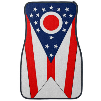 Set of car mats with Flag of Ohio State, USA