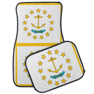 Set of car mats with Flag of Rhode Island, USA